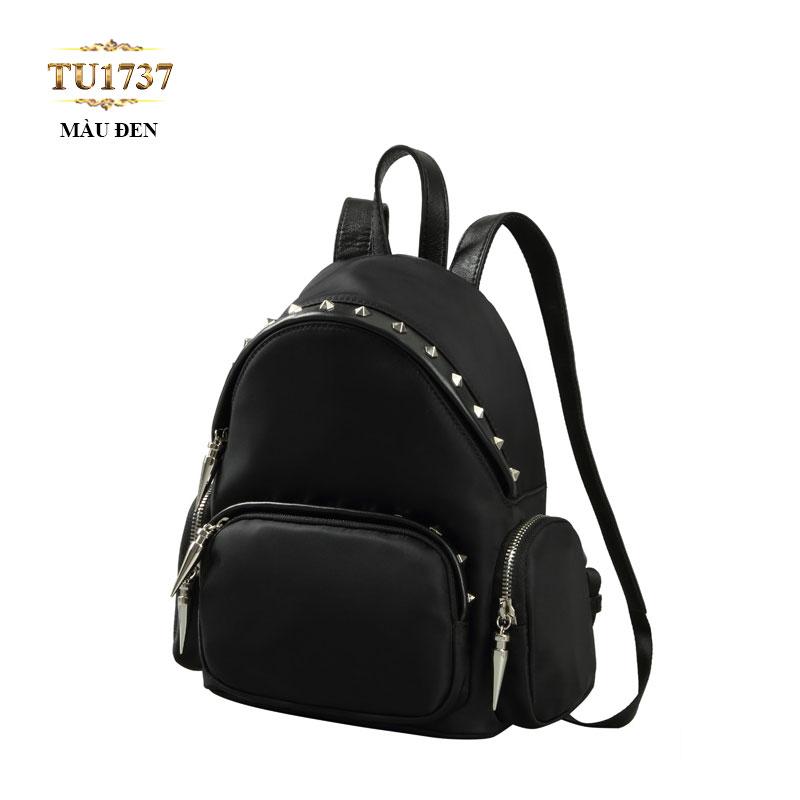 Balo đen nạm đinh thời trang TU1737