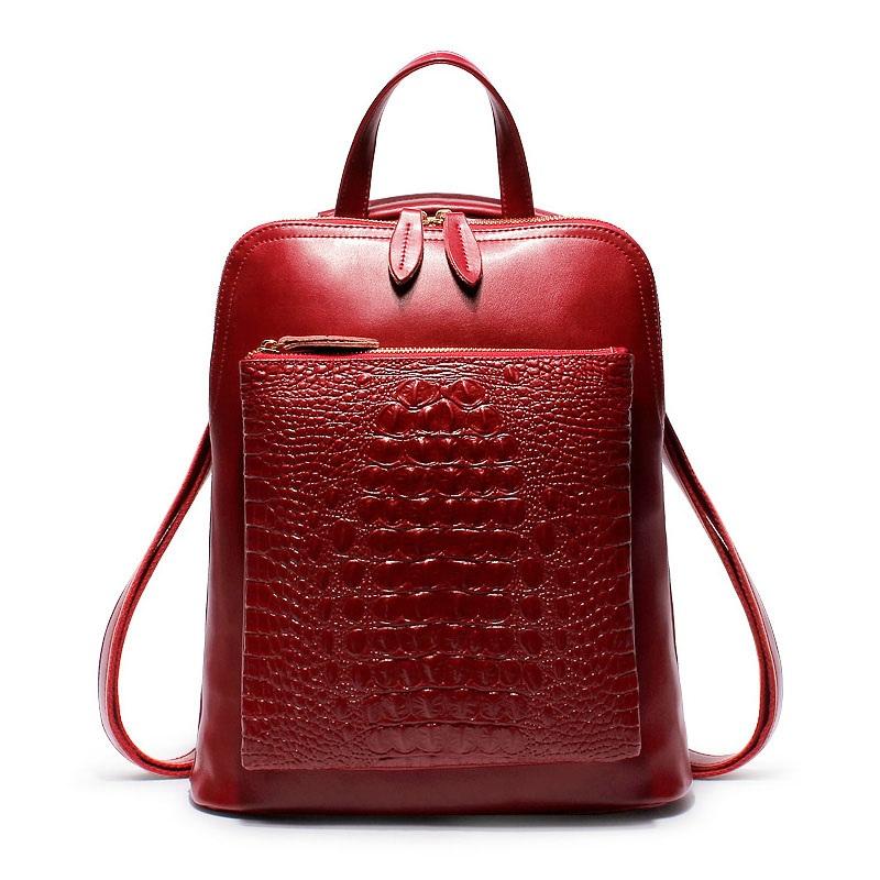 Balo nữ HQ Have Cat màu đỏ đun thời trang TU1534