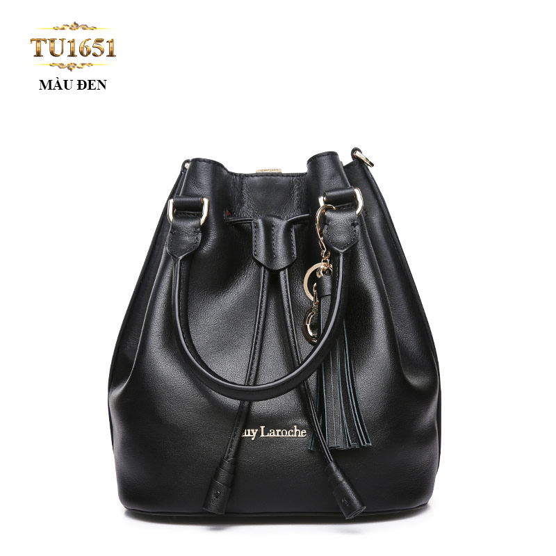 Túi bucket GUY LAROCHE móc kim loại cao cấp TU1651 (Màu đen)