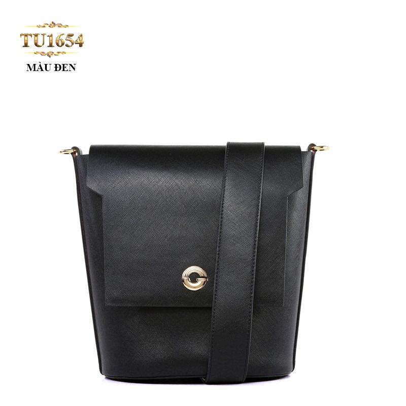 Túi da đeo quai to chữ G cao cấp TU1654 (Màu đen)