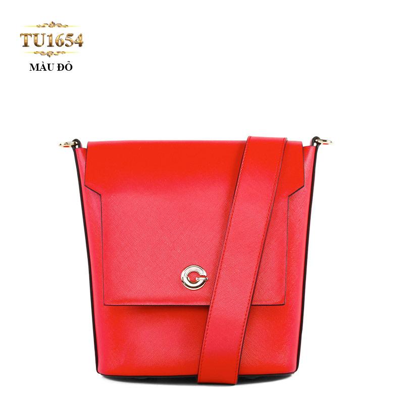 Túi da đeo quai to chữ G cao cấp TU1654 (Màu đỏ)