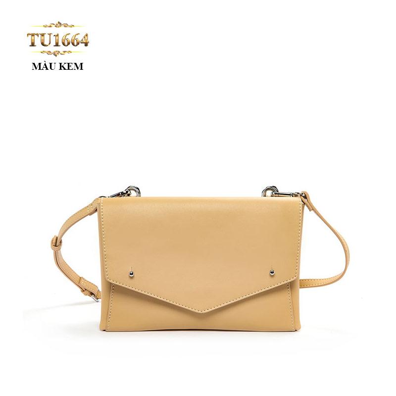 Túi đeo dáng phong bì màu kem cao cấp TU1664
