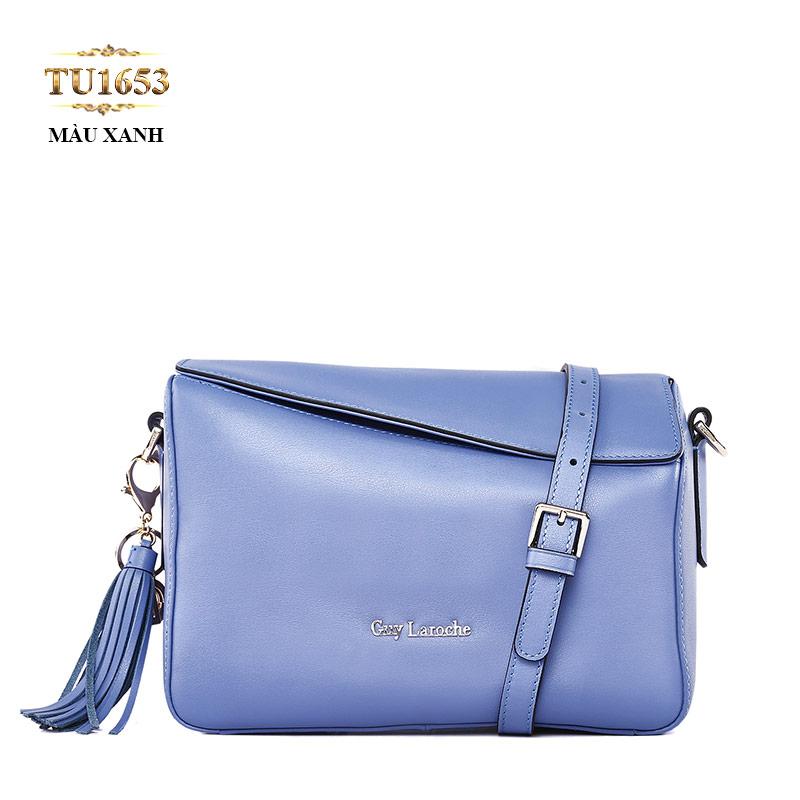 Túi đeo GUY LAROCHE màu xanh nắp trên TU1653