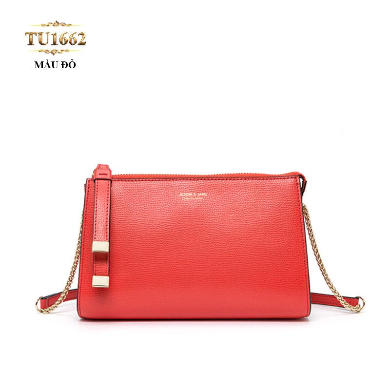 Túi đeo JESSIE&JANE mini dây xích cao cấp TU1662 (Màu đỏ)