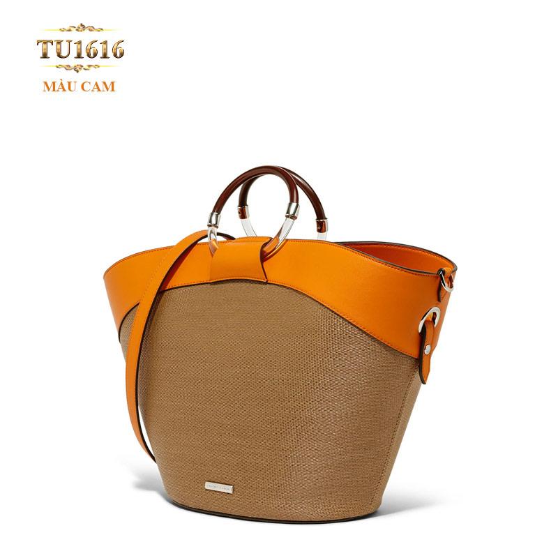 Mẫu túi xách nữ hàng hiệu giá cả bình dân nhờ cách phối màu thời trang TU1616
