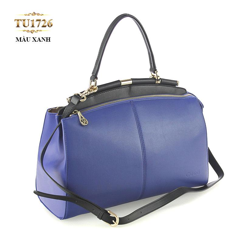 Túi xách da cao cấp xanh coban thời trang TU1726