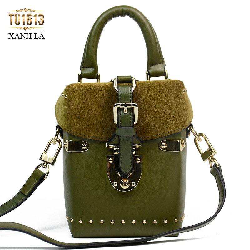 Túi xách da dáng đứng thời trang TU1613 ( Xanh lá)