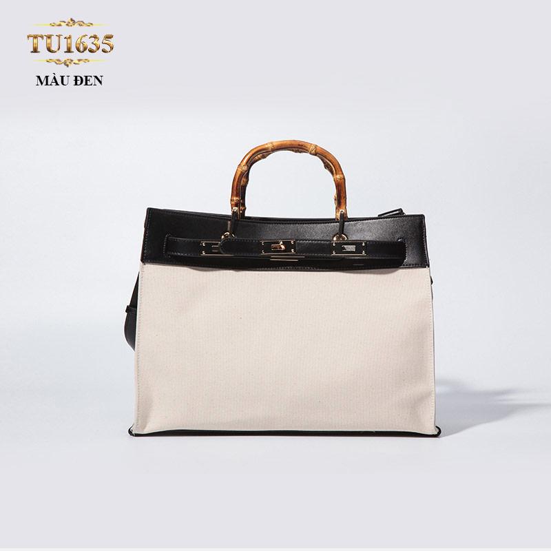 Túi xách đeo cao cấp dáng Hermes thời trang TU1635 (Màu đen)