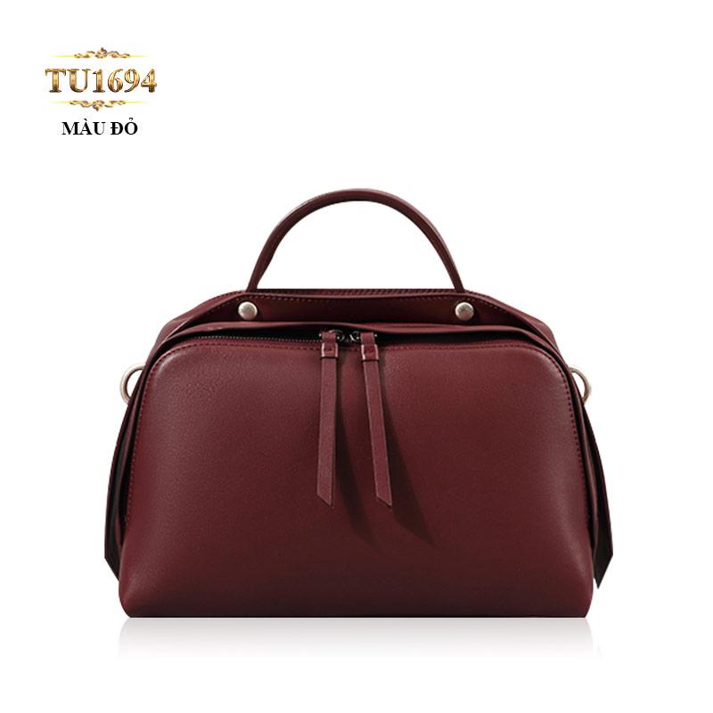 Túi xách đeo cao cấp form bầu dục khóa trên sành điệu TU1694 (Màu đỏ)
