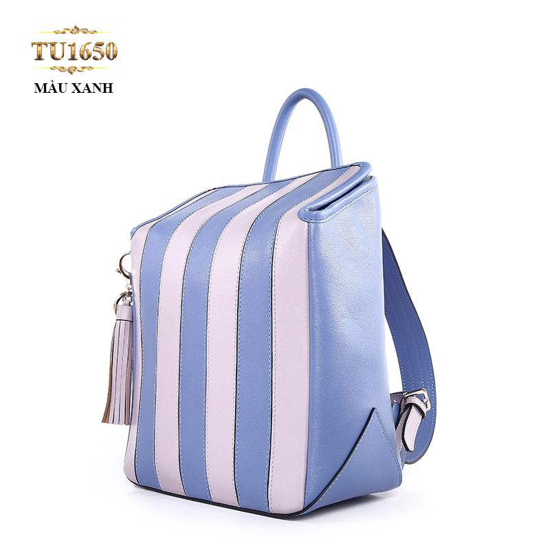 Túi xách đeo cao cấp kẻ sọc xanh thời trang TU1650