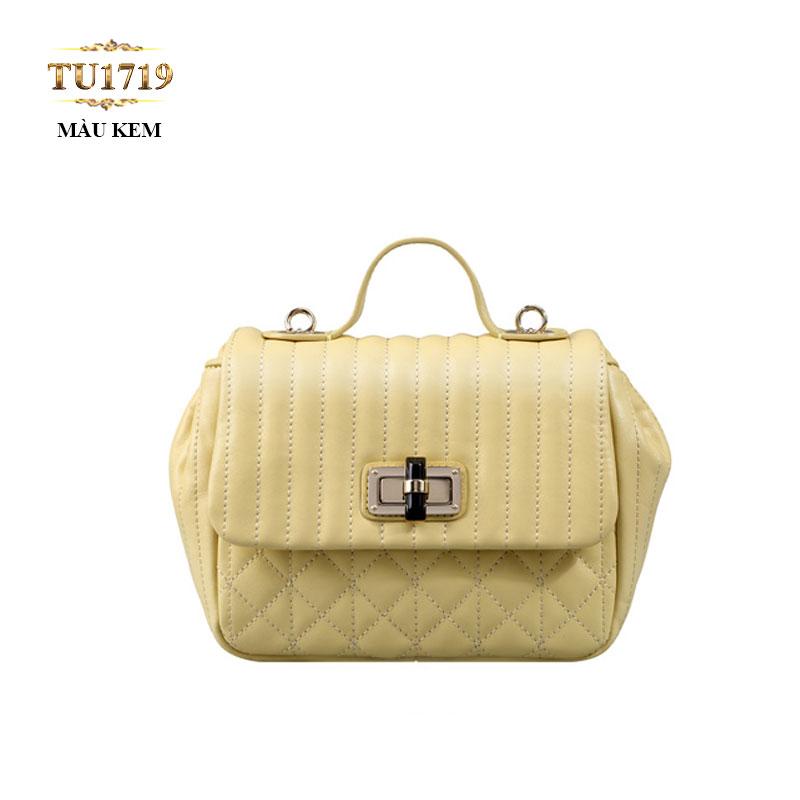 Túi xách đeo cao cấp màu kem trang nhã TU1719