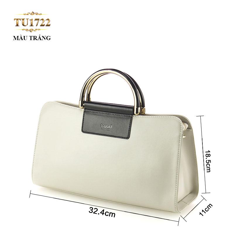 Túi xách đeo Cuud quai kim loại sang trọng TU1722 (Màu trắng)