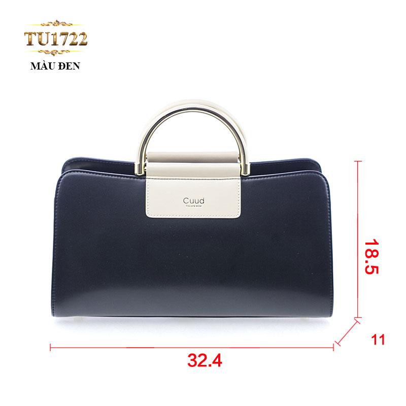 Túi xách đeo Cuud quai kim loại sang trọng  TU1722 (Màu đen)