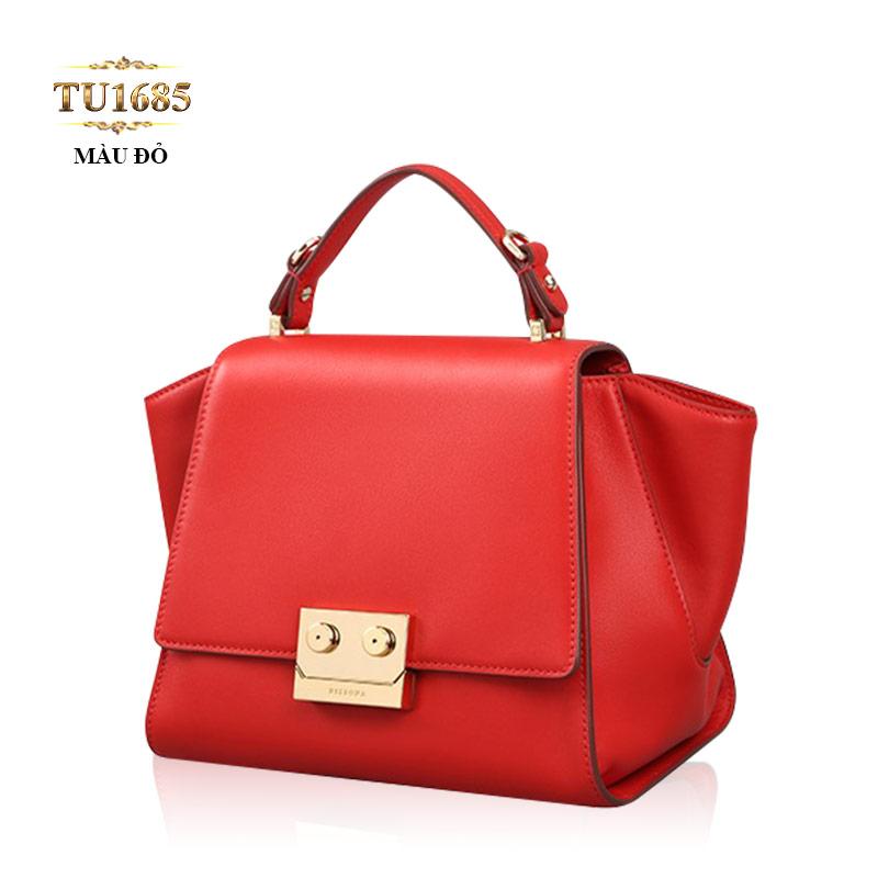 Túi xách đeo Dissona khóa bấm kim loại cao cấp TU1685 (Màu đỏ)