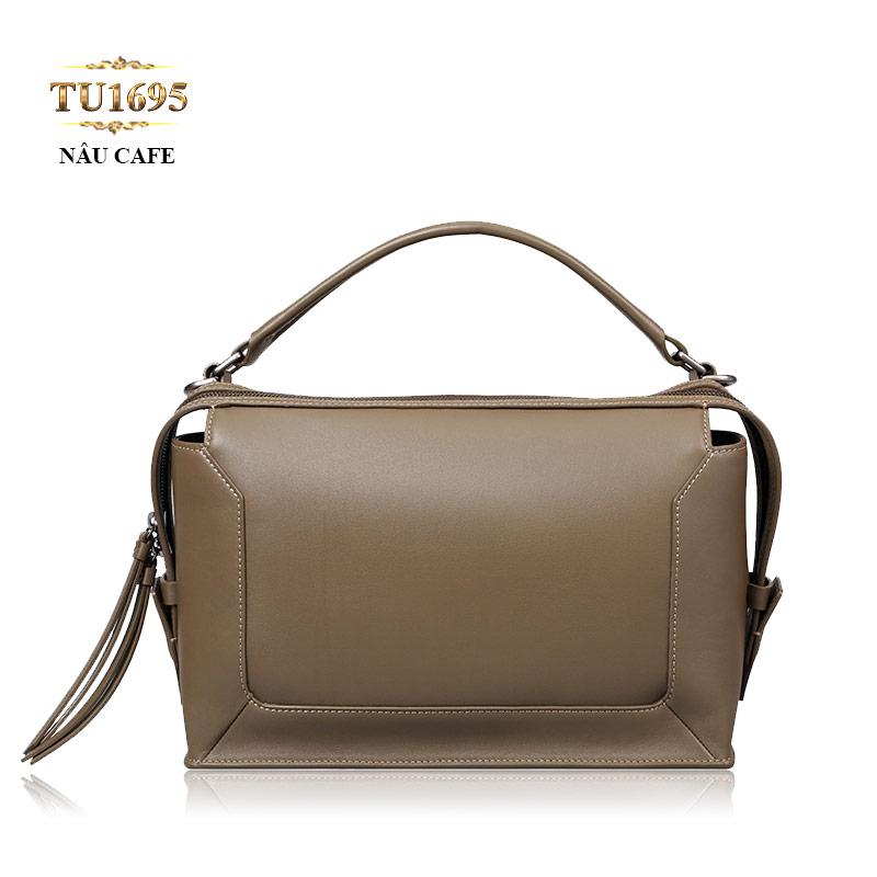 Túi xách đeo form chữ nhật cao cấp khóa trên thời trang TU1695