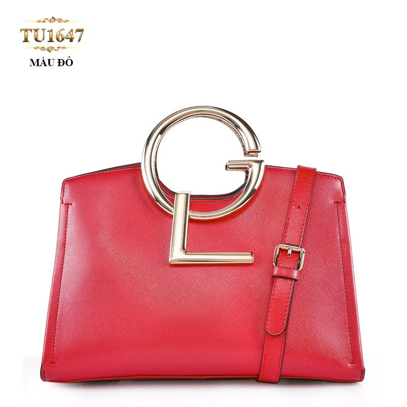 Túi xách đeo GL cao cấp khóa kéo màu đỏ thời trang TU1647