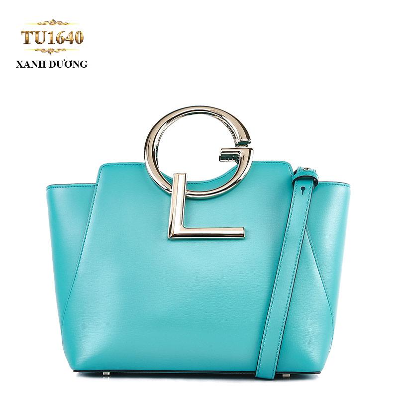 Form túi hình chữ nhật cao cấp kết hợp gam màu xanh dương sành điệu TU1640