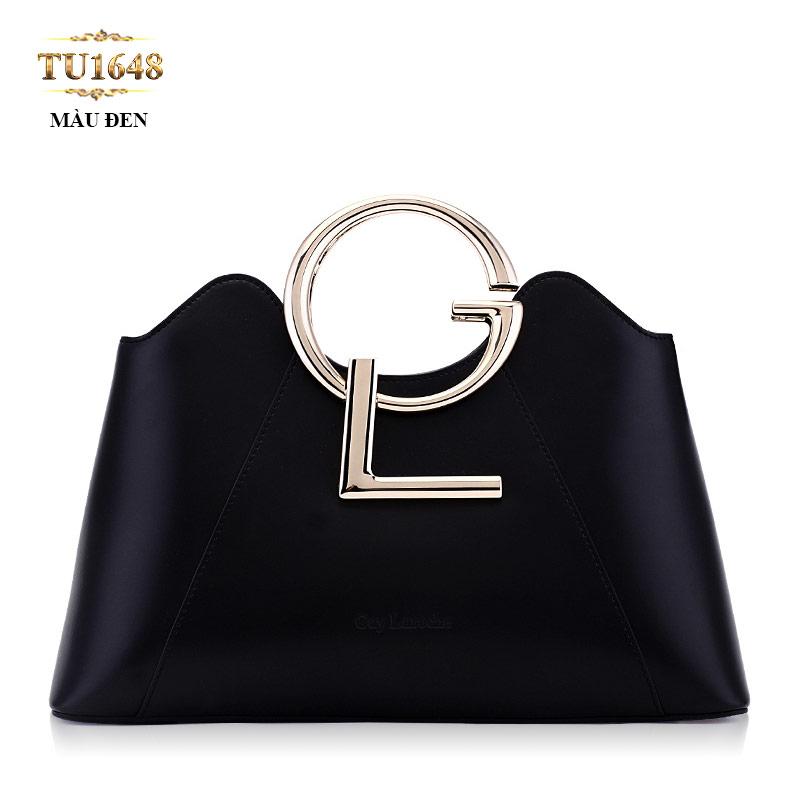 Túi xách đeo GL miệng túi lượn sóng cao cấp TU1648 (Màu đen)