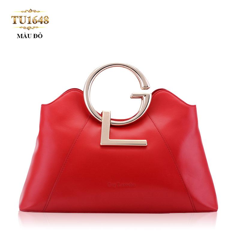Túi xách đeo GL miệng túi lượn sóng cao cấp TU1648 (Màu đỏ)