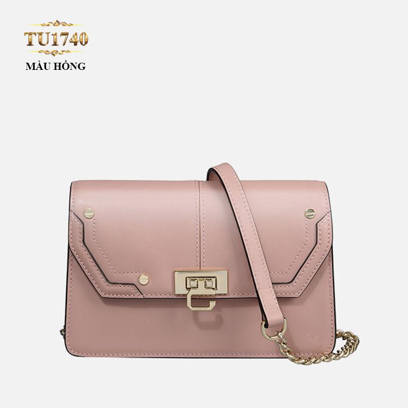 Túi xách Gillivo mini màu hồng cao cấp TU1740