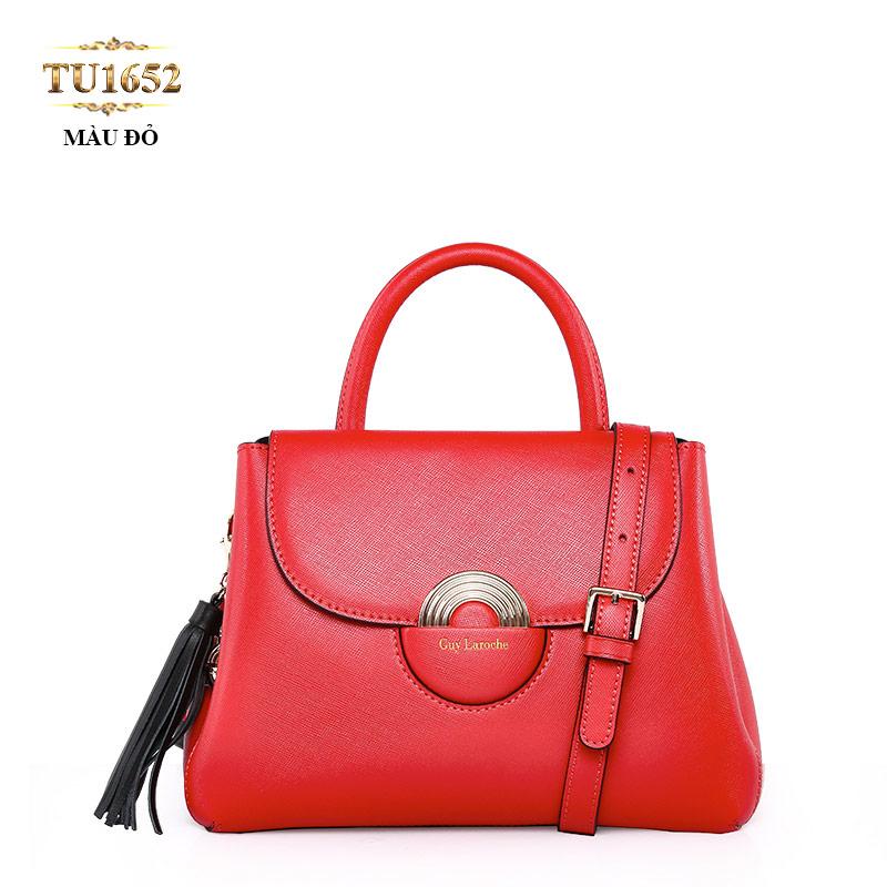 Túi xách GUY LAROCHE cao cấp móc tua rua sành điệu TU1652 (Màu đỏ)
