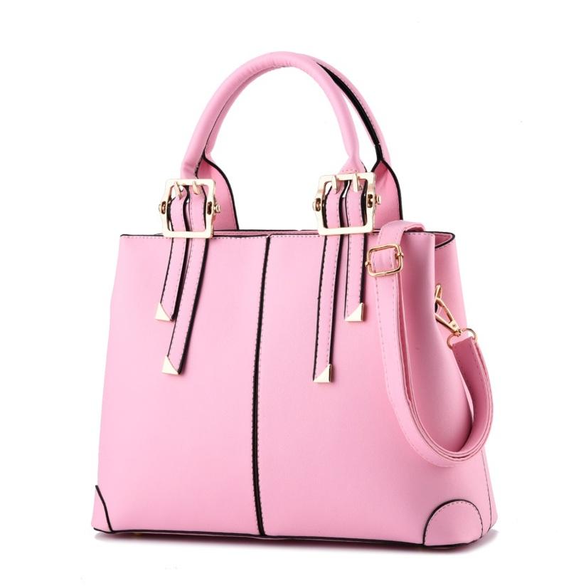 Túi xách nữ da Pu thời trang TU1500 màu hồng