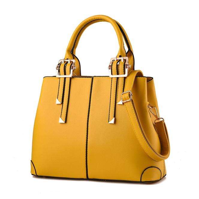 Túi xách nữ da Pu thời trang TU1500 màu vàng