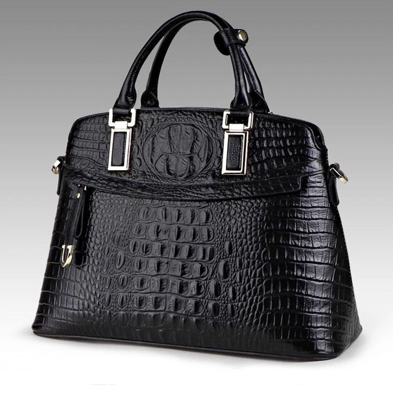 Túi xách nữ vỏ hến vân cá sấu thời trang TU1509(Đen)